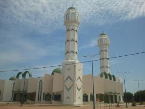 The grand mosque in Taif, Senegal, Cheikh's hometown.